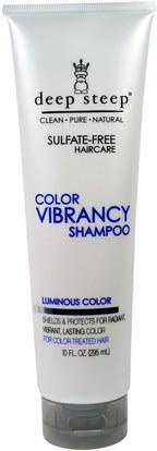 Deep Steep, Color Vibrancy Shampoo, Luminous Color, 10 fl oz (295 ml) ,حمام، الجمال، الشعر، فروة الرأس، الشامبو، مكيف