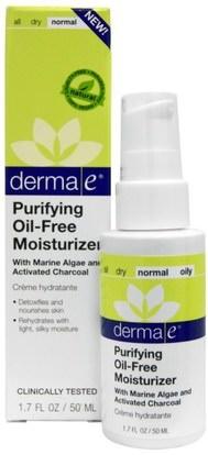 Derma E, Purifying Oil-Free Moisturizer, 1.7 fl oz (50 ml) ,الجمال، العناية بالوجه، الكريمات المستحضرات، الأمصال، نوع الجلد الطبيعي لتجف الجلد