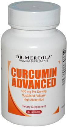 Dr. Mercola, Curcumin Advanced, 500 mg, 30 Capsules ,المكملات الغذائية، مضادات الأكسدة، الكركمين