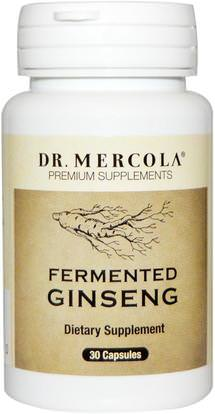 Dr. Mercola, Fermented Ginseng, 30 Capsules ,المكملات الغذائية، أدابتوغن