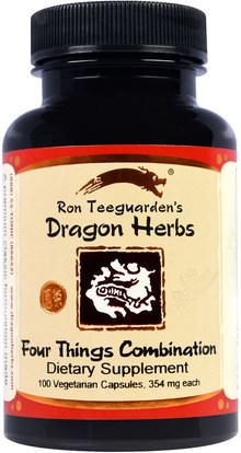 Dragon Herbs, Four Things Combination, 354 mg, 100 Veggie Caps ,الصحة، متلازمة ما قبل الحيض، بريمنستروال