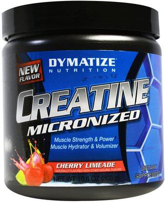 Dymatize Nutrition, Creatine Micronized, Cherry Limeade, 10.6 oz (300 g) ,الرياضة، الكرياتين