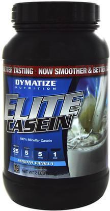 Dymatize Nutrition, Elite Casein, Smooth Vanilla, 2 lbs (918 g) ,Herb-sa