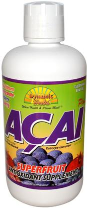 Dynamic Health Laboratories, Acai Plus, Juice Blend, 32 fl oz (946 ml) ,الغذاء، القهوة الشاي والمشروبات، عصير الفواكه