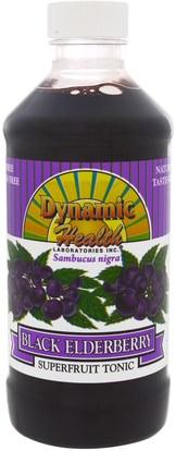 Dynamic Health Laboratories, Dynamic Health Laboratories, Black Elderberry, Superfruit Tonic, 8 fl oz (237 ml) ,الغذاء، القهوة الشاي والمشروبات، عصير الفواكه