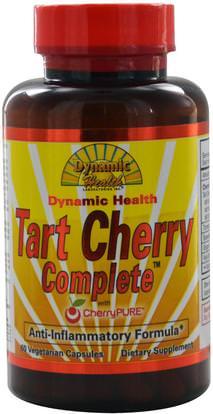 Dynamic Health Laboratories, Tart Cherry Complete with CherryPure, 60 Veggie Caps ,الغذاء، القهوة الشاي والمشروبات، عصير الفواكه