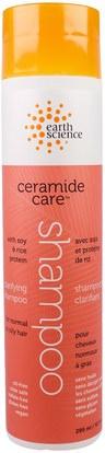 Earth Science, Ceramide Care, Clarifying Shampoo, 10 fl oz (295 ml) ,حمام، الجمال، الشامبو، الشعر، فروة الرأس، مكيف