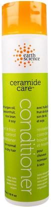 Earth Science, Ceramide Care, Curl & Frizz Control Conditioner, 10 fl oz (259 ml) ,حمام، الجمال، مكيفات، الشعر، فروة الرأس، الشامبو، مكيف