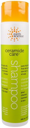 Earth Science, Ceramide Care, Curl & Frizz Control Shampoo, 10 fl oz (295 ml) ,حمام، الجمال، الشامبو، الشعر، فروة الرأس، مكيف
