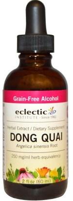 Eclectic Institute, Dong Quai, 2 fl oz (60 ml) ,الصحة، انقطاع الطمث، دونغ كواي