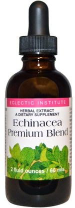 Eclectic Institute, Echinacea Premium Blend, 2 fl oz (60 ml) ,المكملات الغذائية، المضادات الحيوية، السوائل إشنسا