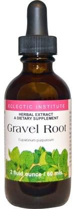 Eclectic Institute, Gravel Root, 2 fl oz (60 ml) ,الأعشاب، جذر الحصى