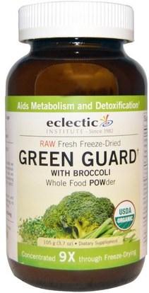 Eclectic Institute, Green Guard with Broccoli, Whole Food POWder, 3.7 oz (105 g) ,المكملات الغذائية، مضادات الأكسدة، البروكلي الصليبي