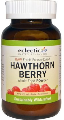 Eclectic Institute, Hawthorn Berry, Whole Food POWder, 2.1 oz (60 g) ,الأعشاب، الزعرور