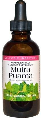Eclectic Institute, Muira Puama, 2 fl oz (60 ml) ,الصحة، الرجال، ميرا بواما مارابواما