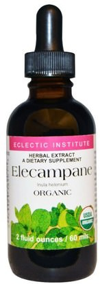 Eclectic Institute, Organic Elecampane, 2 fl oz (60 ml) ,الأعشاب، إليكامبان