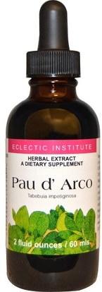Eclectic Institute, Pau d Arco, 2 fl oz (60 ml) ,الأعشاب، بو، داركو