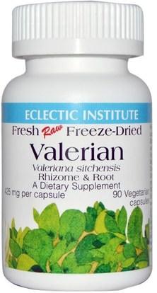Eclectic Institute, Valerian, 425 mg, 90 Veggie Caps ,الأعشاب، فاليريان
