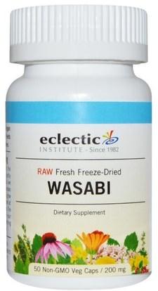 Eclectic Institute, Wasabi, 200 mg, 50 Non-GMO Veggie Caps ,الصحة، السموم، الوسابي