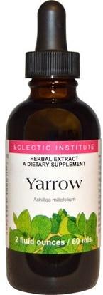 Eclectic Institute, Yarrow, 2 fl oz (60 ml) ,الأعشاب، يارو، أزهر، (أكيلا، ميلفوليوم، ويلهلمسيي)