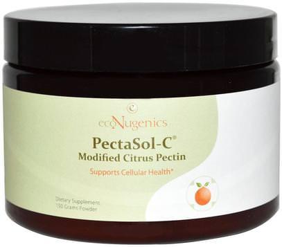 Econugenics, PectaSol-C Modified Citrus Pectin, Powder, 150 g ,المكملات الغذائية، والألياف، إكونوجينيكش الصحة المناعية، الحمضيات البكتين تعديلها