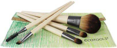 EcoTools, Bamboo 6 Piece Brush Set, 1 Set ,حمام، الجمال، هدية مجموعات، مستحضرات التجميل هدية مجموعات، السفر عينة أطقم