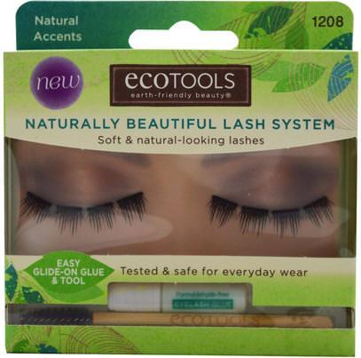 EcoTools, Naturally Beautiful Lash System, Natural Accents, 1 Lash Set ,حمام، الجمال، ماكياج، الرموش الصناعية