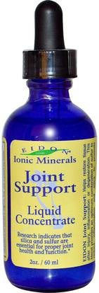 Eidon Mineral Supplements, Ionic Minerals, Joint Support, Liquid Concentrate, 2 oz (60 ml) ,والملاحق، والمعادن، والعظام، وهشاشة العظام، والصحة المشتركة