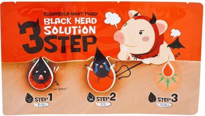 Elizavecca, 3 Step Black Head Solution, 6 g ,الجمال، العناية بالوجه