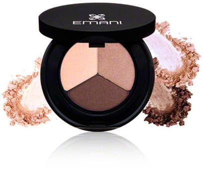 Emani, Eye Trio Eyeshadow, Feeling Blessed, 0.14 oz (4 g) ,حمام، الجمال، بنية، إماني، العيون، ظلال العيون