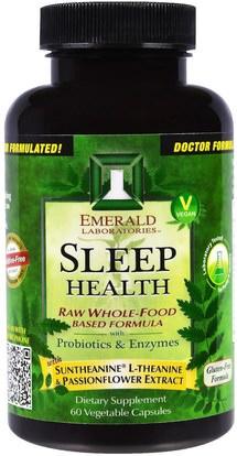 Emerald Laboratories, Sleep Health, 60 Veggie Capsules ,والمكملات الغذائية، والنوم
