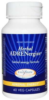 Enzymatic Therapy, Herbal Adrenergize, Adrenal Energy, 60 Veggie Caps ,Herb-sa