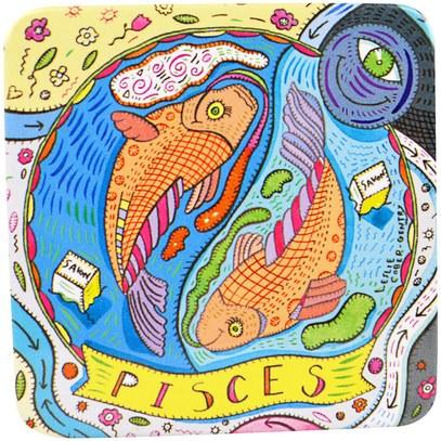European Soaps, LLC, Pre De Provence, The Zodiac Collection, Pisces, 3.5 oz (100 g) ,حمام، الجمال، الصابون، الصحة، بشرة