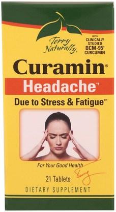 EuroPharma, Terry Naturally, Curamin, Headache, 21 Tablets ,الصحة
