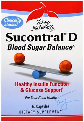 EuroPharma, Terry Naturally, Sucontral D, 60 Capsules ,الصحة، دعم السكر في الدم