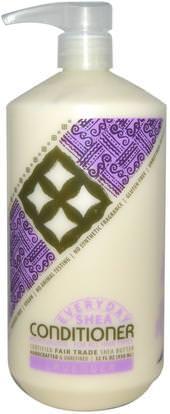 Everyday Shea, Moisturizing Conditioner, Lavender, 32 fl oz (950 ml) ,حمام، الجمال، الشعر، فروة الرأس، الشامبو، مكيف، مكيفات