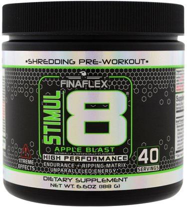Finaflex, Stimul8, Shredding Pre-Workout, Apple Blast, 6.6 oz (188 g) ,والصحة، والطاقة، والرياضة، تجريب