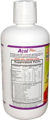 الغذاء، القهوة الشاي والمشروبات، عصير الفواكه Dynamic Health Laboratories, Acai Plus, Juice Blend, 32 fl oz (946 ml)