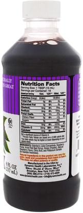 الغذاء، القهوة الشاي والمشروبات، عصير الفواكه Dynamic Health Laboratories, Dynamic Health Laboratories, Black Elderberry, Superfruit Tonic, 8 fl oz (237 ml)