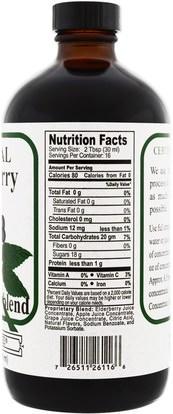 الغذاء، القهوة الشاي والمشروبات، عصير الفواكه، الصحة، إلدربيري (سامبوكس) Natural Sources, Natural Elderberry Concentrate, 16 fl oz (480 ml)