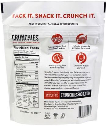 الطعام، الفاكهة المجفوفة Crunchies Food Company, Freeze-Dried Strawberries, 1 oz (28 g)