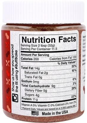 الطعام، زبدة الفول السوداني Buff Bake, Red Velvet Protein Peanut Spread, 13 oz (368 g)