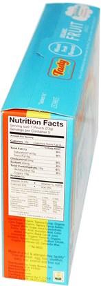الطعام، الوجبات الخفيفة، الحلوى Tasty Brand, Organic Fruit Snack Gummies, Mixed Fruit Flavors, 5 Pouches, 0.8 oz (23 g) Each