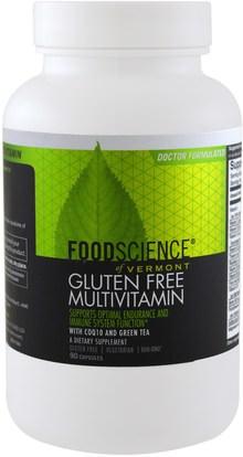 FoodScience, Gluten Free Multivitamin, 90 Capsules ,الفيتامينات، الفيتامينات