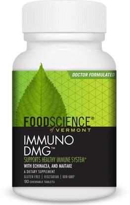 FoodScience, Immuno DMG, 90 Tablets ,المكملات الغذائية، دمغ (n-ديميثيلغليسين)