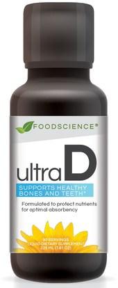 FoodScience, Ultra D, 7.61 oz (225 mg) ,المكملات الغذائية، الصحة، العظام، هشاشة العظام