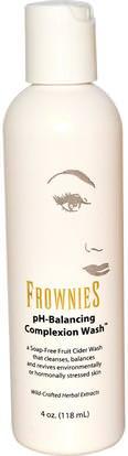 Frownies, pH-Balancing Complexion Wash, 4 oz (118 ml) ,الجمال، العناية بالوجه، منظفات الوجه
