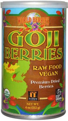 Fun Fresh Foods, World Berries, Goji Berries, 4 oz (112 g) ,المكملات الغذائية، أدابتوغين، الفواكه المجففة