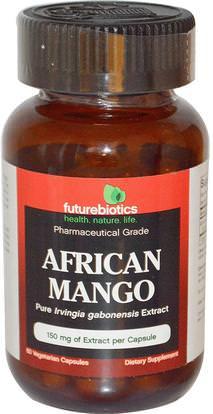 FutureBiotics, African Mango, 150 mg, 60 Veggie Caps ,والصحة، والنظام الغذائي، وفقدان الوزن، إيرفينجيا غابوننسيس (المانجو الأفريقي)
