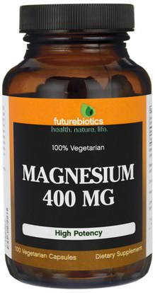 FutureBiotics, Magnesium, 400 mg, 100 Veggie Caps ,المكملات الغذائية، المعادن، أكسيد المغنيسيوم